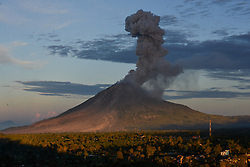 June 15, 2017  Mount Sinabung spews out volcanic ash in North Sumatera, Indonesia. Mount Sinabung is one of Indonesia's 129 active volcanoes. (Credit Image: © Lana Priatna/Xinhua via ZUMA Wire)