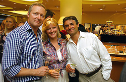 Left to right, RORY BREMNER, the COUNTESS OF MARCH and ALAN DE CADENET at a party hosted by Links at their store in Sloane Square, London to celebrate the forthcoming Glorious Goodwood Racing festival held on 26th July 2006.<br /><br />NON EXCLUSIVE - WORLD RIGHTS