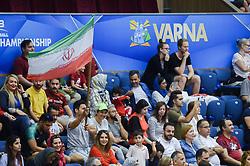 September 12, 2018 - Varna, Bulgaria - The fans of Iran during Iran vs Puerto Rico, pool D, during 2018 FIVB Volleyball Men's World Championship Italy-Bulgaria 2018, Varna, Bulgaria on September 12, 2018  (Credit Image: © Hristo Rusev/NurPhoto/ZUMA Press)