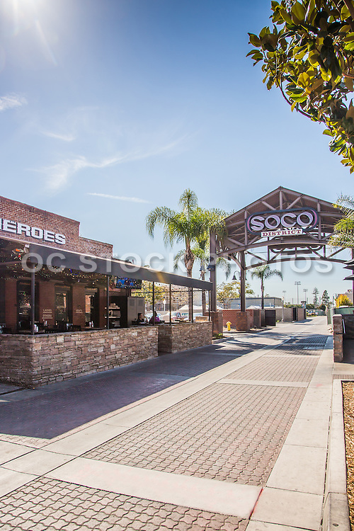 Restaurants in the SOCO District of Downtown Fullerton