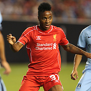 Raheem Sterling, Liverpool, in action during the Manchester City Vs Liverpool FC Guinness International Champions Cup match at Yankee Stadium, The Bronx, New York, USA. 30th July 2014. Photo Tim Clayton