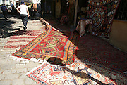Georgia, Tbilisi, carpet vendor