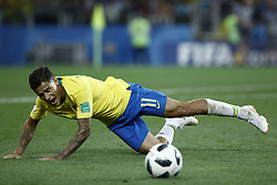 June 27, 2018 - Moscow, Russia - Philippe Coutinho during the 2018 FIFA World Cup Russia group E match between Serbia and Brazil at Spartak Stadium on June 27, 2018 in Moscow, Russia. (Credit Image: © Mehdi Taamallah/NurPhoto via ZUMA Press)