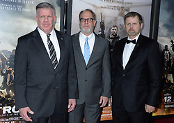 Lieutenant General John F. Mulholland, Bob Pennington, and Mark Nutsch attending the world premiere of 12 Strong at Jazz at Lincoln Center in New York City, NY, USA, on January 16, 2018. Photo by Dennis Van Tine/ABACAPRESS.COM