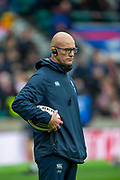Twickenham, England, 7th March 2020, England defence coach, John MITCHELL, pre-game Warm up, Guinness Six Nations, International Rugby, England vs Wales, RFU Stadium, United Kingdom, [Mandatory Credit; Peter SPURRIER/Intersport Images]