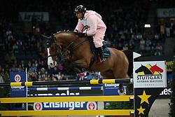 Dreher Hans Dieter, (GER), Callisto<br /> Speed and handiness competition with costumes<br /> Stuttgart - German Masters 2015<br /> © Hippo Foto - Stefan Lafrentz