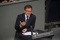 29 JUN 2012, BERLIN/GERMANY:<br /> Carsten Schneider, MdB, SPD, haushaltspolitischer Sprecher der SPD-Bundestagsfraktion, Bundestagsdebatte zum Fiskalpakt, zum dauerhaften Euro-Rettungsschirm ESM, zur ESM-Finanzierung und zur Aenderung des Vertrags über die Arbeitsweise der Europaeischen Union , Plenum, Deutscher Bundestag<br /> IMAGE: 20120629-01-087<br /> KEYWORDS: Fiskalpakt, dauerhafter Rettungsschirm EFSM, Fiskalvertrag, Einrichtung des Europäischen Stabilitätsmechanismus, Europäischen Stabilitätsmechanismus ESM-Finanzierungsgesetz ESMF, Stabilitaetsunion