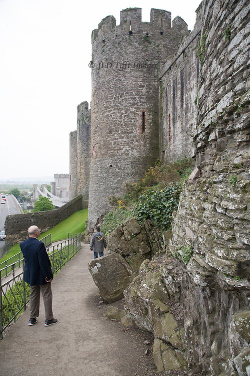 Views of the ruins of Conwy Castle, Conwy, Wales.