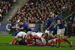February 2, 2020, Saint Denis, Seine Saint Denis, France: The scrum-half of French Team ANTOINE DUPONT in action during the Guinness Six Nations Rugby tournament between France and  England at the Stade de France - St Denis - France. France won 24-17 (Credit Image: © Pierre Stevenin/ZUMA Wire)
