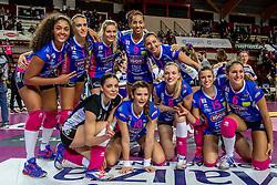27-11-2016 ITA: Gorgonzola Igor Volley Novara - Nordmeccanica Modena, Novara<br /> Nova wint in drie sets van Modena / Celeste Plak #4, Judith Pietersen #8, Laura Dijkema #14