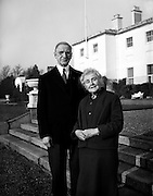 President Eamon de Valera and Mrs. de Valera celebrate their Golden Wedding Anniversary at Áras an Uachtarain.. 07.01.1960