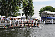 Henley, Great Britain. Heat of the Temple Challenge Cup. Brown University USA vs  Worcester Polytechnic Insititute USA   at 2009 Henley Royal Regatta.  Wednesday 01/07/2009 [Mandatory Credit. Peter Spurrier/Intersport Images] . HRR.