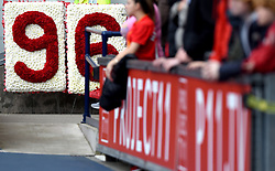 Floral tribute to Hillsborough from West Bromwich Albion presented to the Liverpool fans  - Mandatory by-line: Joe Meredith/JMP - 15/05/2016 - FOOTBALL - The Hawthorns - West Bromwich, England - West Bromwich Albion v Liverpool - Barclays Premier League