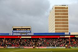 Bristol City fans fill the away stand before the game - Photo mandatory by-line: Rogan Thomson/JMP - 07966 386802 - 20/12/2014 - SPORT - FOOTBALL - Crewe, England - Alexandra Stadium - Crewe Alexandra v Bristol City - Sky Bet League 1.