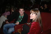 """Georgie Zaris on right. Motorola Grand Classics at the Electric Cinema on Portobello Road,  The French movie Jean Luc goddard's """"Le Mepris"""" was screened during the event. The party was hosted by Kristin Scott Thomas. London. 26 September 2005. ONE TIME USE ONLY - DO NOT ARCHIVE © Copyright Photograph by Dafydd Jones 66 Stockwell Park Rd. London SW9 0DA Tel 020 7733 0108 www.dafjones.com"""