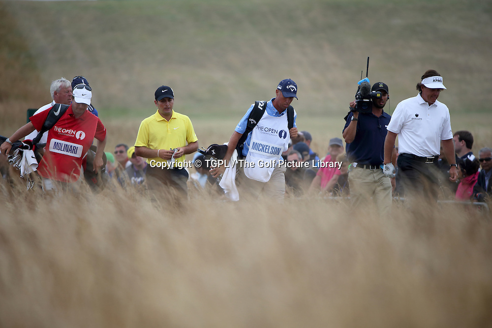 Phil MICKLESON (USA) walks off 18th tee during fourth round Open Championship 2013,Muirfield,Gullane,East Lothian,Scotland.