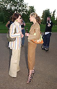 Martine d'Anglejan and Candida Gertler, Cindy Sherman exhibition opening at  the Serpentine gallery. 2 June 2003. © Copyright Photograph by Dafydd Jones 66 Stockwell Park Rd. London SW9 0DA Tel 020 7733 0108 www.dafjones.com