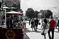 South Bank, London, see a wide angle image of the south bank and its restaurants. I have used colour isolation to bring out the life in this classical street scene. The South Bank is where people go to be seen and to sit and watch others as the world passes by. This image is ready to download for commercial editorial use.