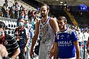 Miro Bilan, Marco Antonio Re<br /> Banco di Sardegna Dinamo Sassari - Segafredo Virtus Bologna<br /> Eurosport Supercoppa 2020 - Final Four - Semifinale<br /> LBA Legabasket 2020/2021<br /> Bologna, 18/09/2020<br /> Foto L.Canu / Ciamillo-Castoria