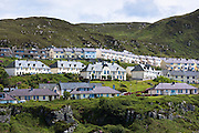 Modern housing estate homes at Mallaig on the West Coast of Highlands of Scotland