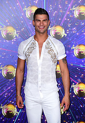 Aljaz Skorjanec arriving at the red carpet launch of Strictly Come Dancing 2019, held at BBC TV Centre in London, UK.