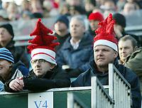 Photo: Chris Ratcliffe.<br />Gillingham v Bristol City. Coca Cola League 1. 26/12/2005.<br />Bristol City fans get in the festive mood at Preistfield.
