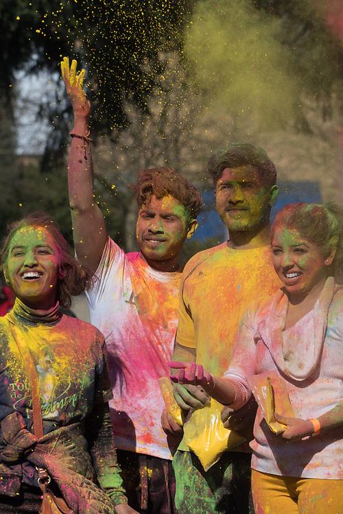 United States, Washington, Bellevue, Holi Festival in Bellevue Downtown Park