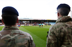 A minutes silence takes place before kick off for Remembrance Day - Mandatory by-line: Matt McNulty/JMP - 11/11/2017 - FOOTBALL - Glanford Park - Scunthorpe, England - Scunthorpe United v Bristol Rovers - Sky Bet League One