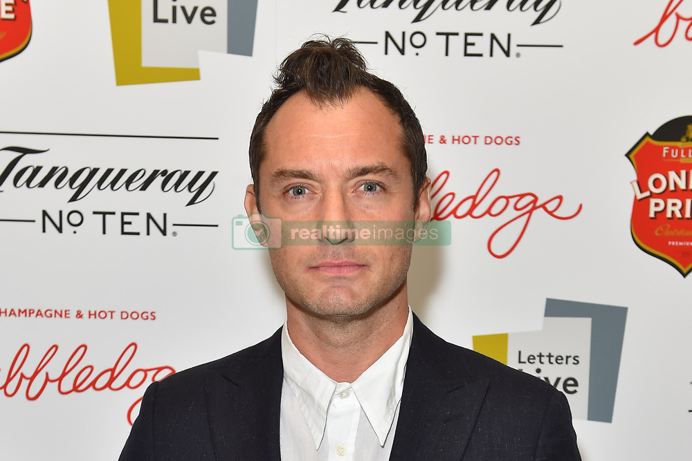 Jude Law attends the first night of the Letters Live series at the Freemason's Hall, London.