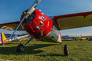 Cessna 195 at 2014 Hood River Fly-In at WAAAM.