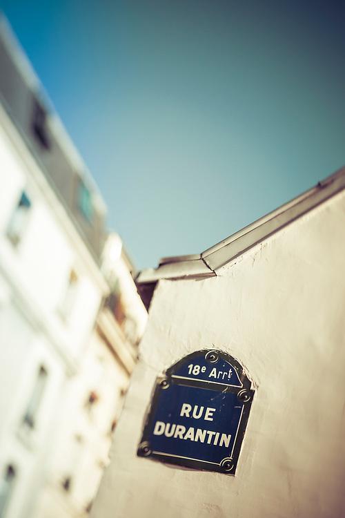Street Sign, Montmartre, Paris