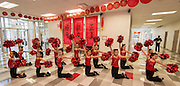Students perform during the dedication and ribbon cutting for the Mandarin Immersion Magnet School, October 24, 2016.