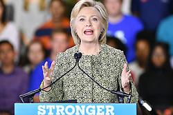 September 19, 2016 - Philadelphia, Pennsylvania, U.S - HILLARY CLINTON campaigns for the millennial vote at Temple University in Philadelphia PA (Credit Image: © Ricky Fitchett via ZUMA Wire)