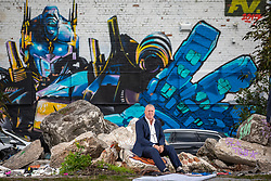 © Licensed to London News Pictures . 24/09/2018 . Salford , UK . ANDY BELL of AJ Bell Financial Services by the River Irwell in Ordsall . The business is due to be floated on the Stock Market at the start of 2019 . Photo credit : Joel Goodman/LNP