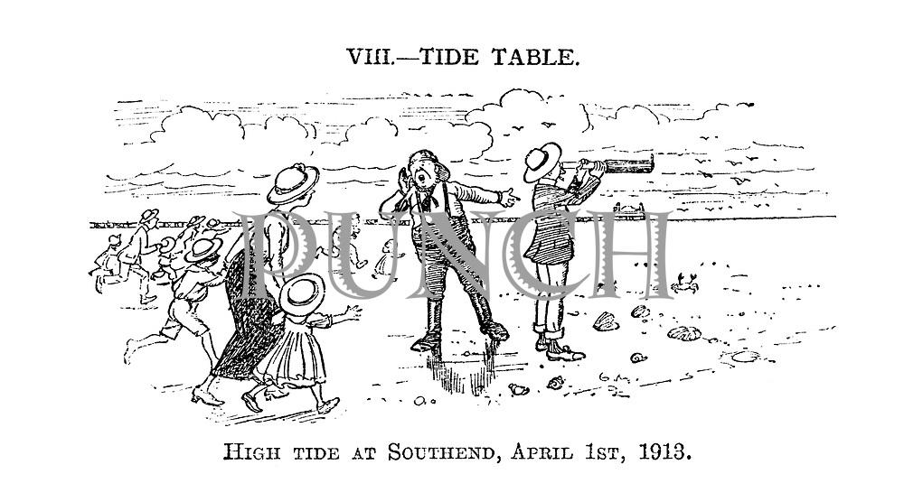 VIII. - Tide Table. High Tide at Southend, April 1st, 1913.