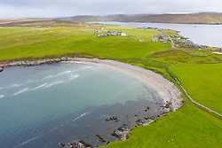 View of Sandwick Beach at Hillswick , Northmavine on  Shetland, Scotland, UK