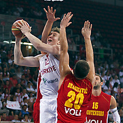 Turkey's Omer Faruk ASIK (C) during their Istanbul CUP 2011match played Montenegro between Turkey at Abdi Ipekci Arena in Istanbul, Turkey on 25 August 2011. Photo by TURKPIX