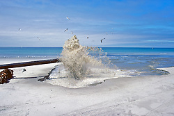 Water Flowing From Pipe On Beach