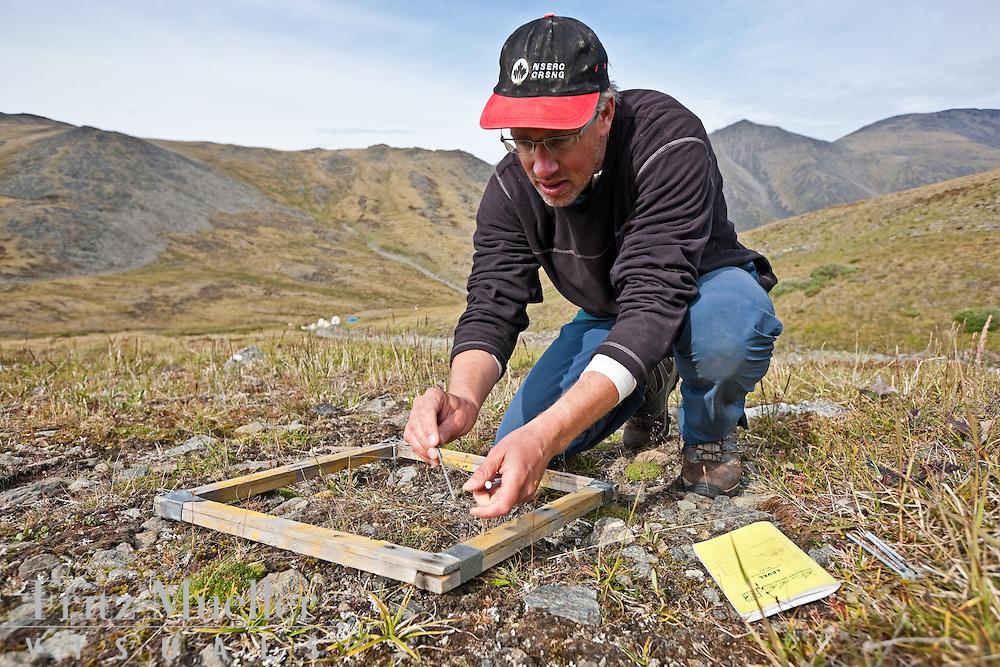 David Hik at Pika Camp, an alpine research field camp in the Ruby Range near Kluane Lake Research Station, Yukon