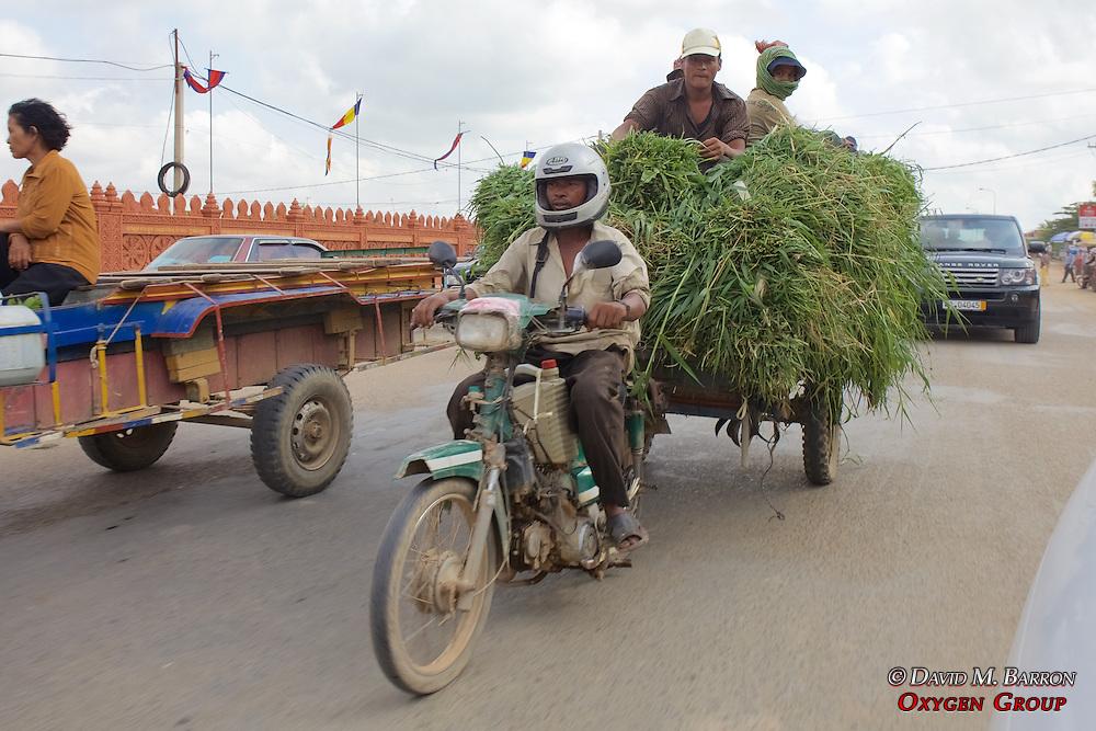 Man Pulling Cart With Motorbike3