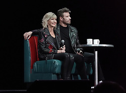 EXCLUSIVE: John Travolta and Olivia Newton John recreate their iconic Grease characters for the first time since the 1978 hit musical was made. The pair wowed fans in full costume at a 'Meet 'N Grease' sing-a-long event in West Palm Beach, Florida. The film starred Travolta, now 65, as greaser Danny Zuko and Newton-John, now. 71, as Sandy. It became the highest-grossing musical film ever at the time. Its soundtrack album ended 1978 as the second-best selling album of the year in the United States, behind the soundtrack of the 1977 blockbuster Saturday Night Fever, which also starred Travolta. 13 Dec 2019 Pictured: John Travolta; Olivia Newton John . Photo credit: MEGA TheMegaAgency.com +1 888 505 6342