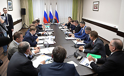 August 3, 2017 - Amur Region, Russia - August 3, 2017. - Russia, Amur Region. - Russian President Vladimir Putin chairs a meeting on major investment projects implementation in the Far Eastern Federal District as part of his tour of Nizhne-Bureiskaya Hydroelectric Power Plant. (Credit Image: © Russian Look via ZUMA Wire)