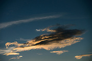 Cloud formation at dawn<br /> Chimborazo Forest Reserve<br /> Andes<br /> ECUADOR, South America