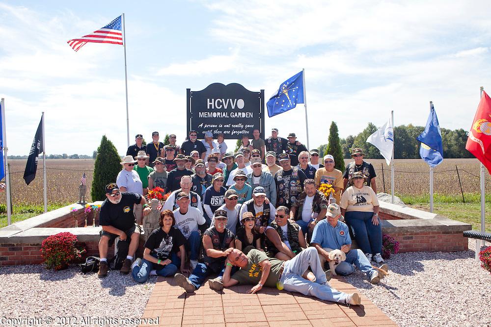 Kokomo Indiana Vietnam Veterans Reunion 2012 group photo