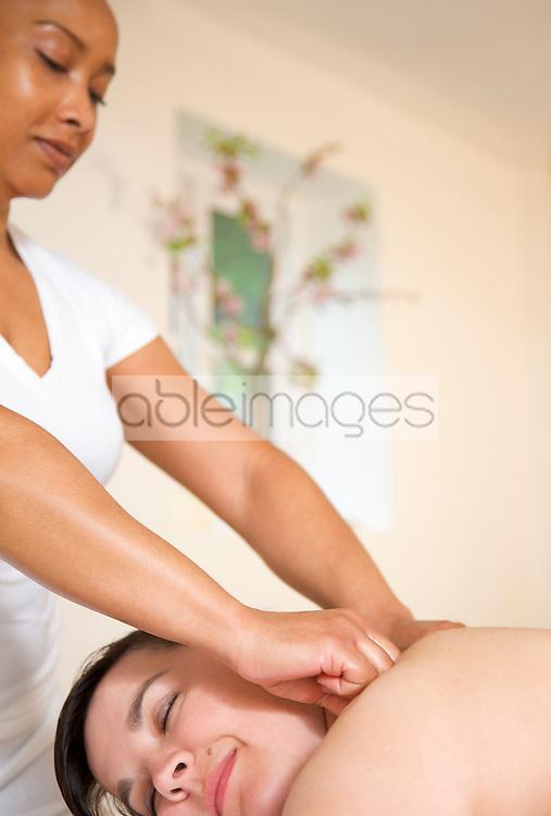 Woman receiving a massage