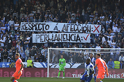May 20, 2017 - Deportivo supporters angry after their team bad season.  LA CORUNA SPAIN. MAY 20, 2017 - La Liga Santander match day 38 game. Deportivo La Coruna defeated Las Palmas with goals scored by Florin And one (4th and 28th minute) and Carles Gil (39th minute). Riazor Stadium, Spain. Photo by Monica Arcay Carro | PHOTO MEDIA EXPRESS (Credit Image: © Monica Arcay Carro/VW Pics via ZUMA Wire/ZUMAPRESS.com)