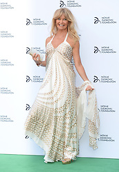 Goldie Hawn arriving at the Novak Djokovic Foundation fundraising dinner at the Camden Roundhouse, London