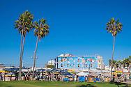 Venice Beach and boardwalk - Los Angeles, California.