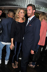 LADY KINVARA BALFOUR and her former husband COUNT RICCARDO LANZA  at a party to celebrate the launch of Jax Coco - a new soft drink, held at Harvey Nichols 5th Floor Bar, 109-125 Knightsbridge, London on 25th June 2012.
