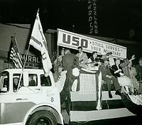 1957 Santa Claus Lane Parade on Hollywood Blvd.